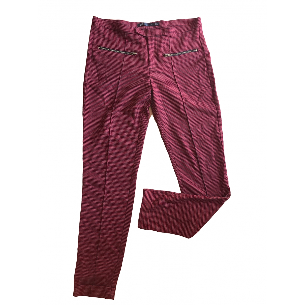 Zara \N Burgundy Jeans for Women 36 FR