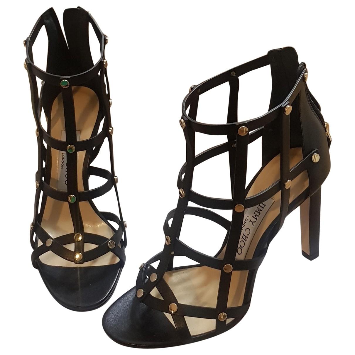 Jimmy Choo \N Black Leather Heels for Women 36 EU