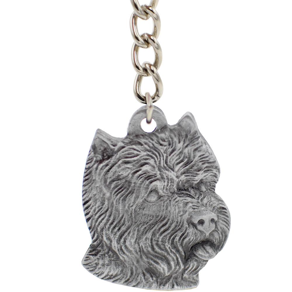 Dog Breed Keychain USA Pewter - West Highland Terrier (2.5