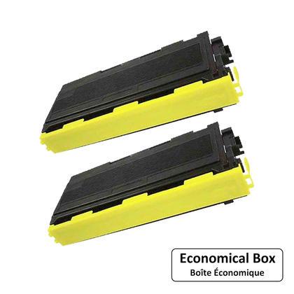 Compatible Brother TN-350 Black Toner Cartridge - Economical Box - 2/Pack