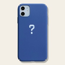 1pc Question Mark Print iPhone Case