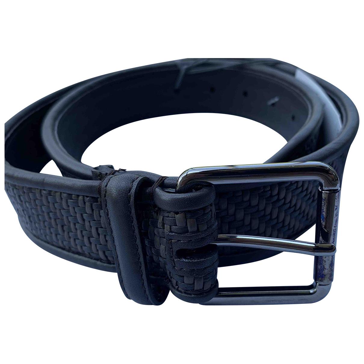 Ermenegildo Zegna \N Black Leather belt for Men 85 cm