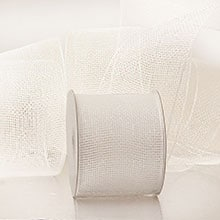 White Crystal Deco Mesh - 4 X 20 Yards - Glass - Wraps by Paper Mart