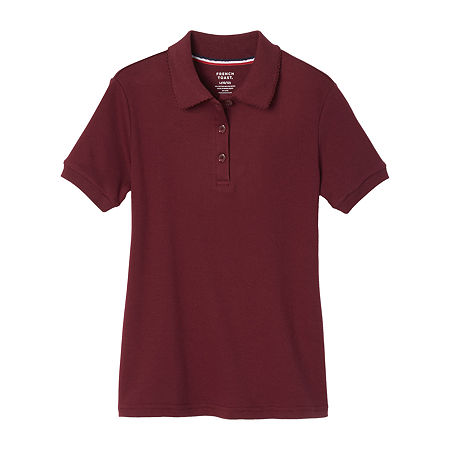 French Toast Big Girls Short Sleeve Polo Shirt, Medium , Red