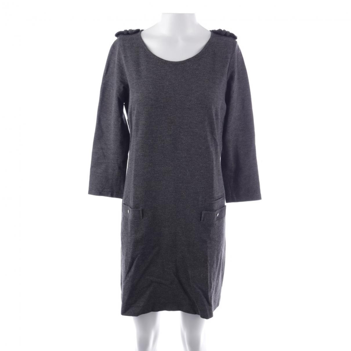 Sandro \N Grey Cotton dress for Women 36 FR