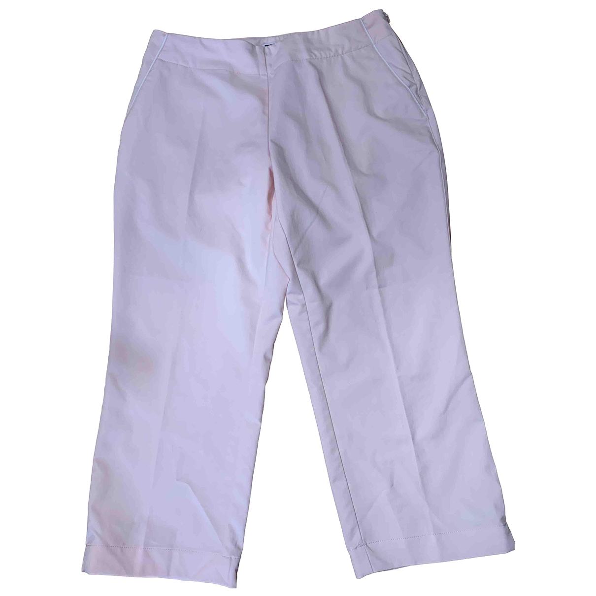 Adidas \N Pink Cotton Trousers for Women 42 IT