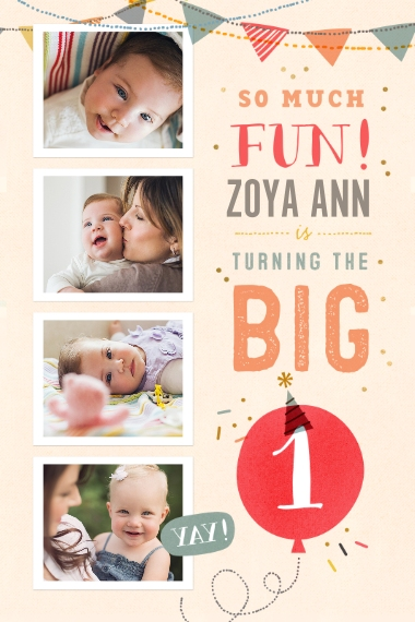 Baby + Kids 20x30 Poster, Home Décor -So Much Fun Turning One