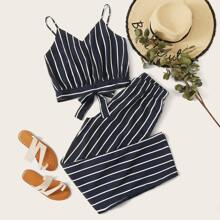 Vertical Striped Cami Top & Pants