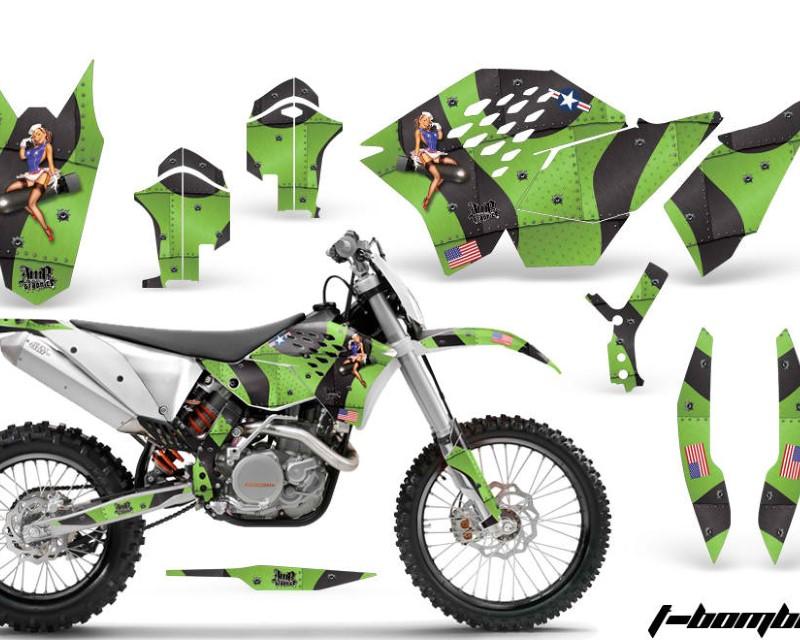 AMR Racing Dirt Bike Graphics Kit Decal Wrap For KTM SX/XCR-W/EXC/XC/XC-W/XCF-W 2007-2011áTBOMBER GREEN