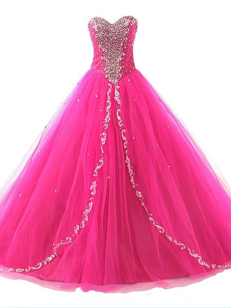 Ericdress Dramatic Ball Gown Beaded Sweetheart Quinceanera Dress