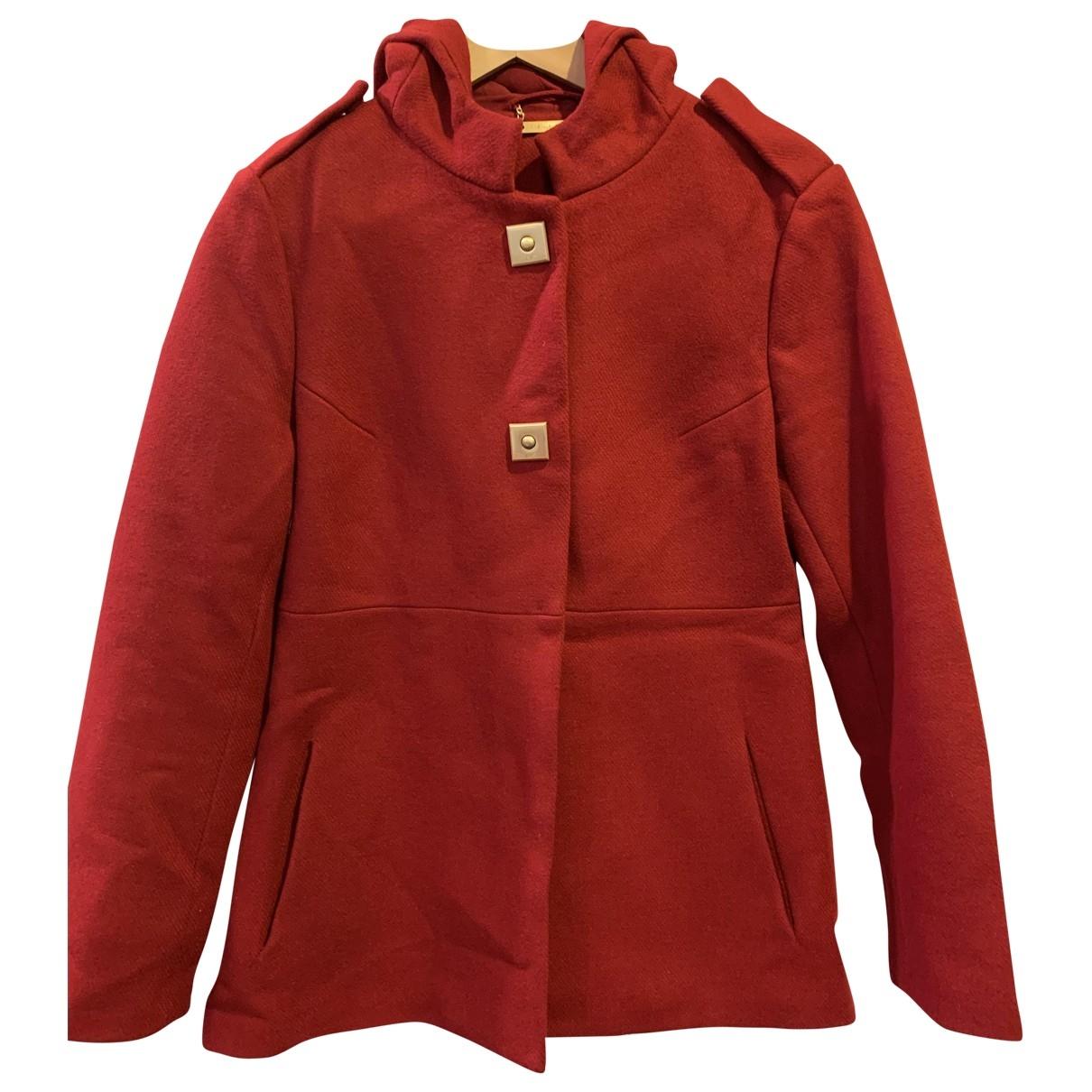 Diane Von Furstenberg \N Red Wool coat for Women 6 US