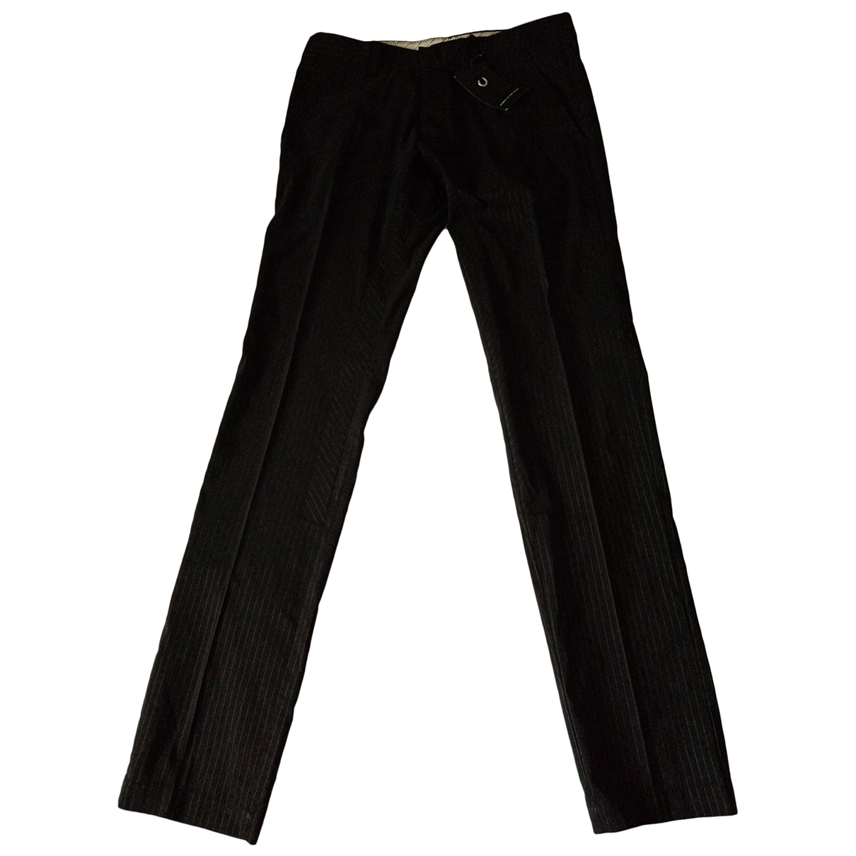 Non Signé / Unsigned \N Grey Trousers for Men 46 IT