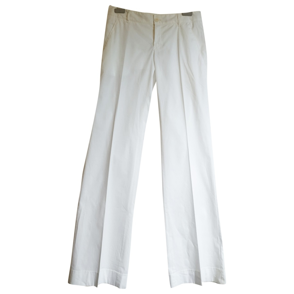 Philosophy Di Alberta Ferretti \N White Cotton Trousers for Women 40 IT