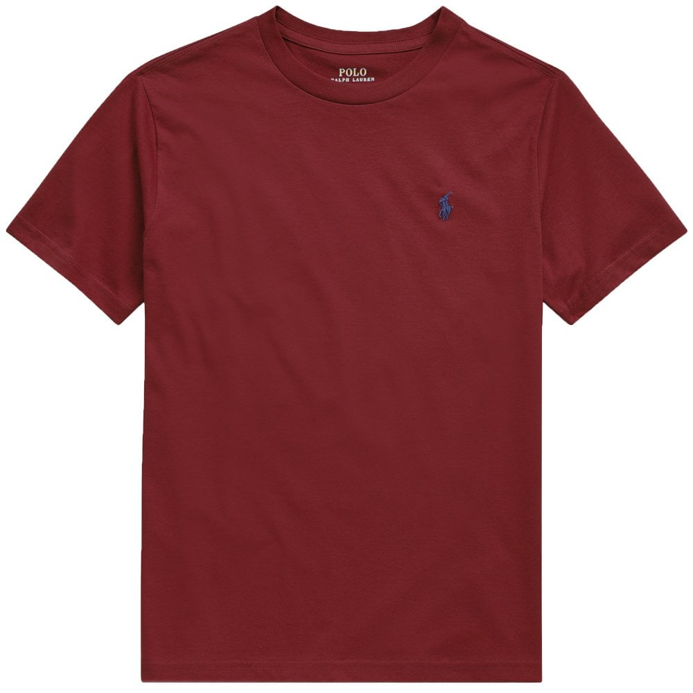 Ralph Lauren Kids Logo T-Shirt Burgundy Colour: BURGUNDY, Size: 4 YEAR