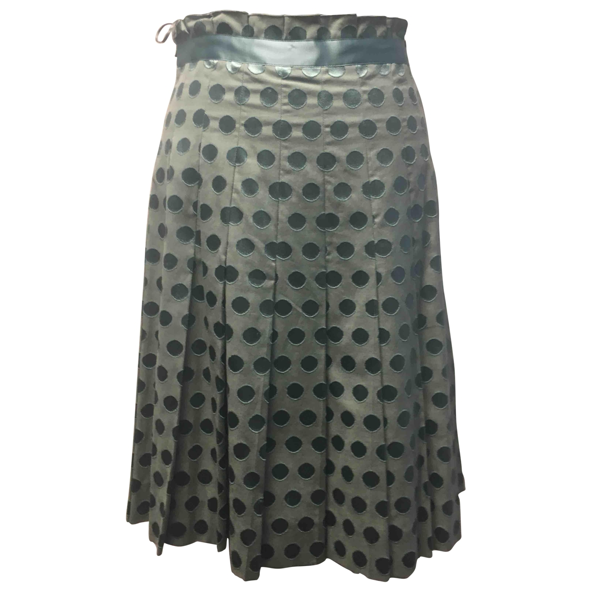 Moschino Cheap And Chic \N Green Silk skirt for Women 44 FR