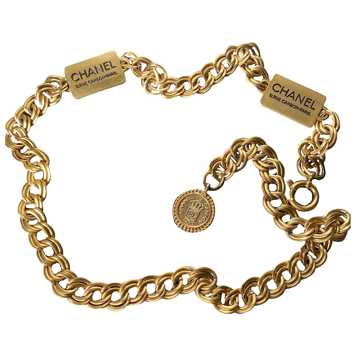 Chanel \N Gold Metal belt for Women M International
