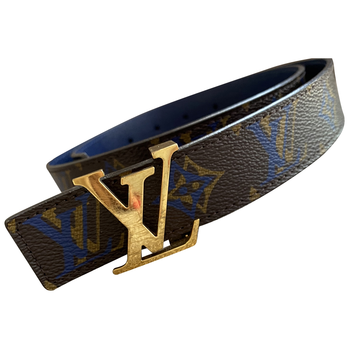 Louis Vuitton Initiales Brown Cloth belt for Women 80 cm