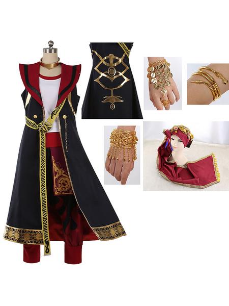 Milanoo Disney Twisted Wonderland Scarabia Kalim Al-Asim Cosplay Costume Halloween