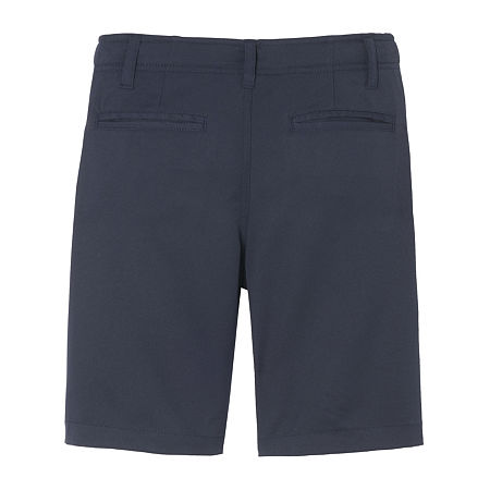 French Toast Little & Big Boys Stretch Moisture Wicking Chino Short, 16 , Blue