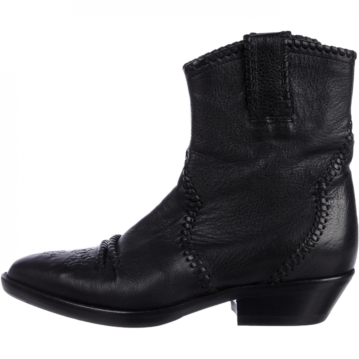 Isabel Marant \N Black Leather Ankle boots for Women 36 EU