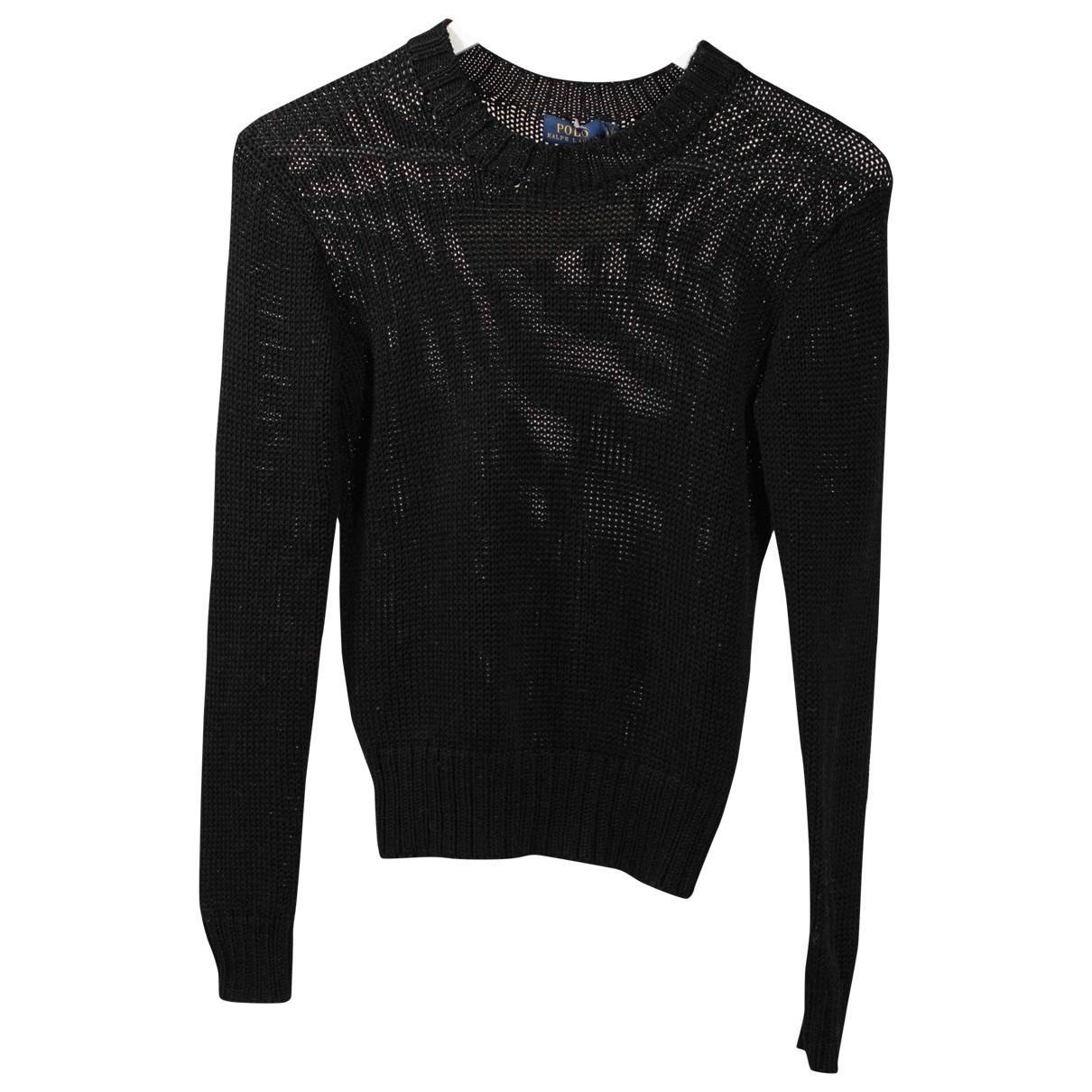 Polo Ralph Lauren \N Black Cotton Knitwear for Women 36 FR