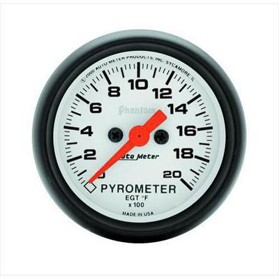 Auto Meter Phantom Electric Pyrometer Gauge Kit - 5745