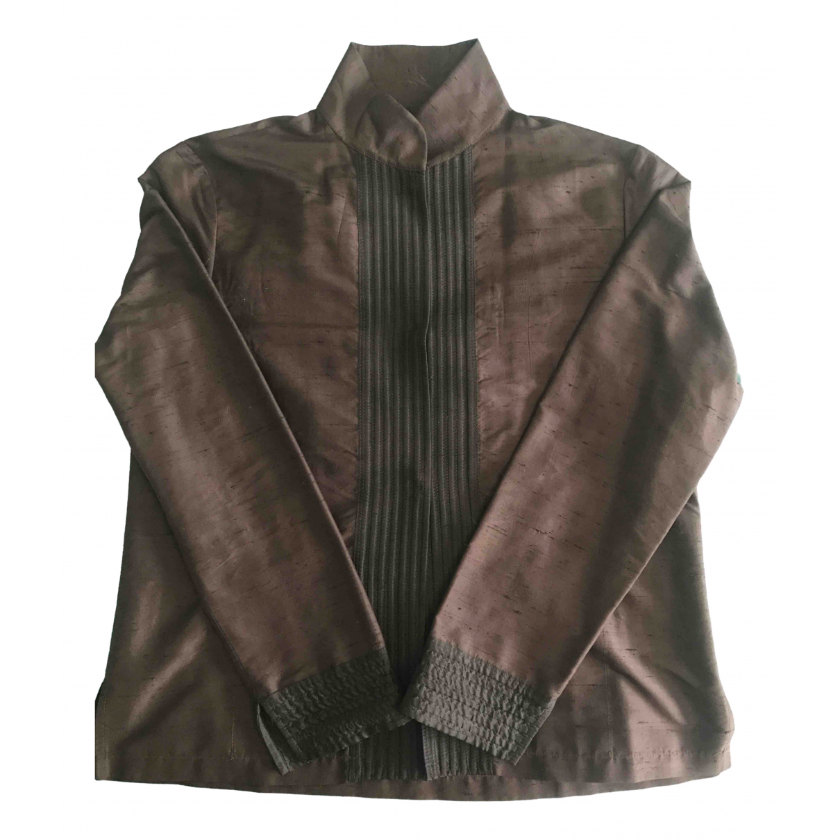Etro \N Brown Silk jacket for Women 42 IT