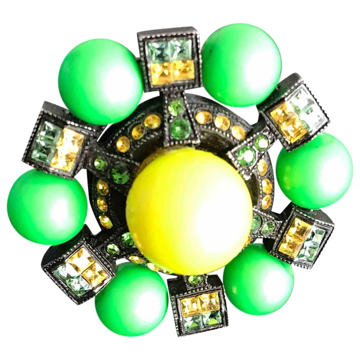 Lanvin \N Green Metal ring for Women 51 MM