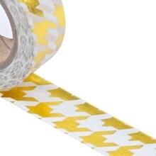 Gold Herringbone Washi Tape - 9/16 X 10 Yards - Shipping Supplies by Paper Mart