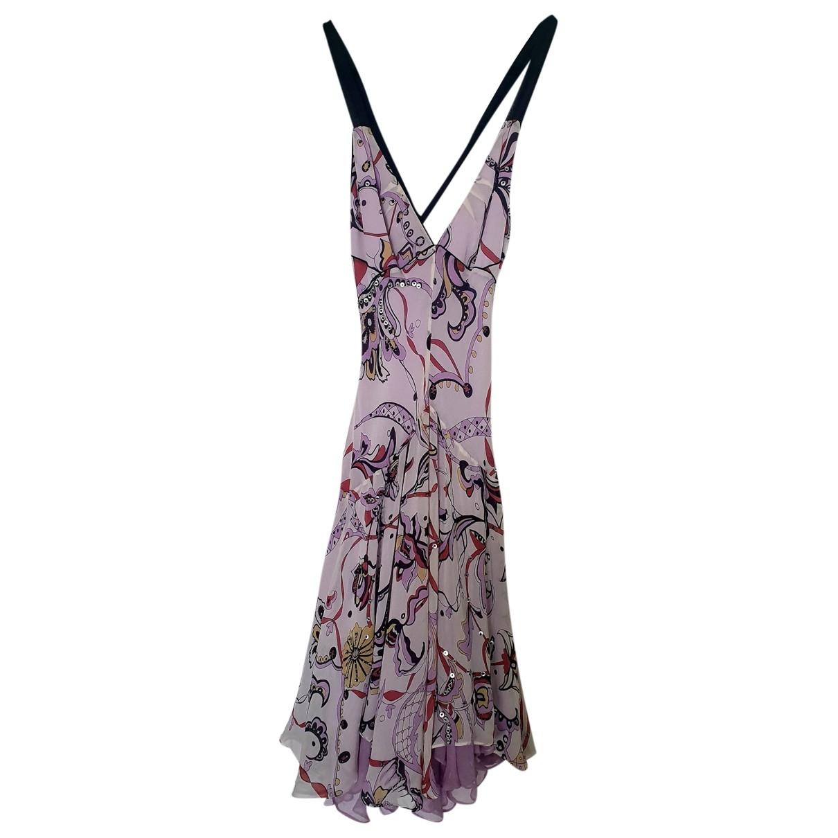 Temperley London \N Purple Silk dress for Women 10 UK
