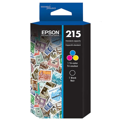 Epson T215120-BCS Original Black and Tri-color Ink Cartridge Combo