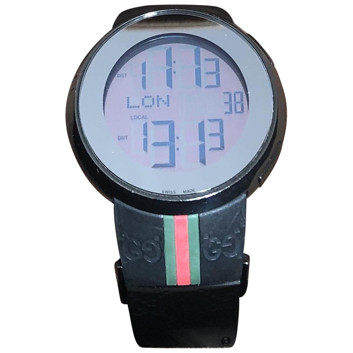 Gucci I-Gucci Digital Black Steel watch for Men \N