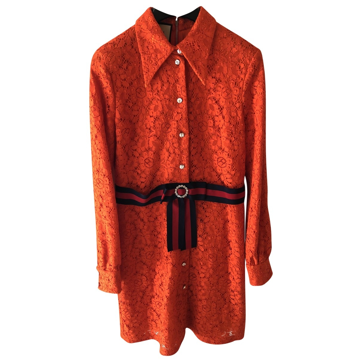 Gucci \N Orange Lace dress for Women 44 IT