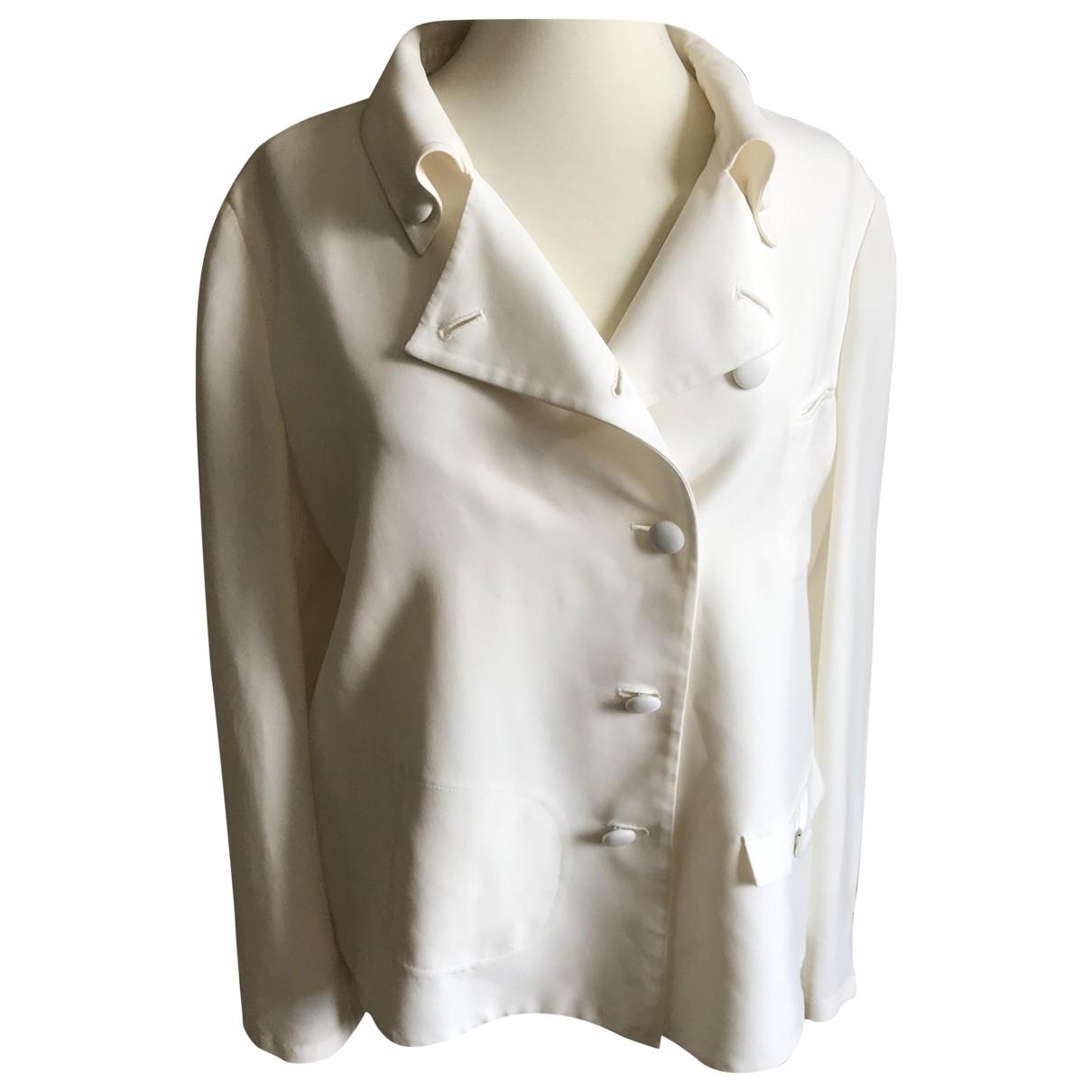 Emporio Armani \N White Silk jacket for Women 46 IT