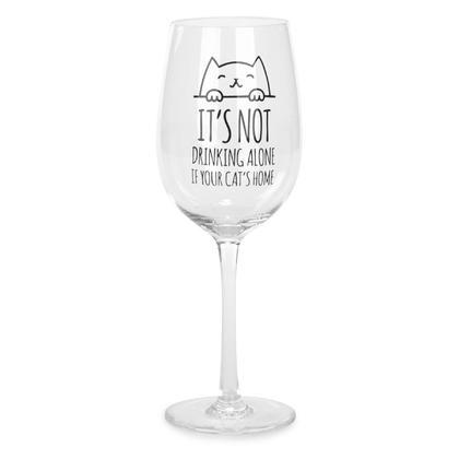 Drinking Alone - Wine Glass 3X9