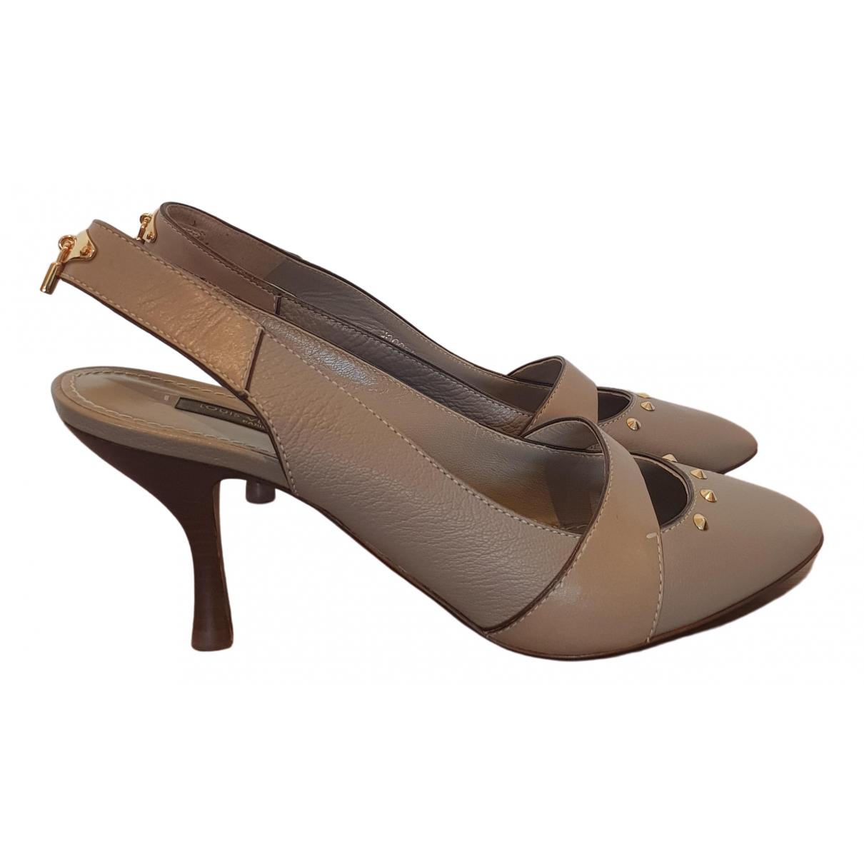 Louis Vuitton \N Grey Leather Heels for Women 38 EU