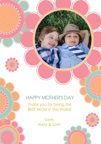 Mother's Day Cards Flat Glossy Photo Paper Cards with Envelopes, 5x7, Card & Stationery -Bountiful Blooms