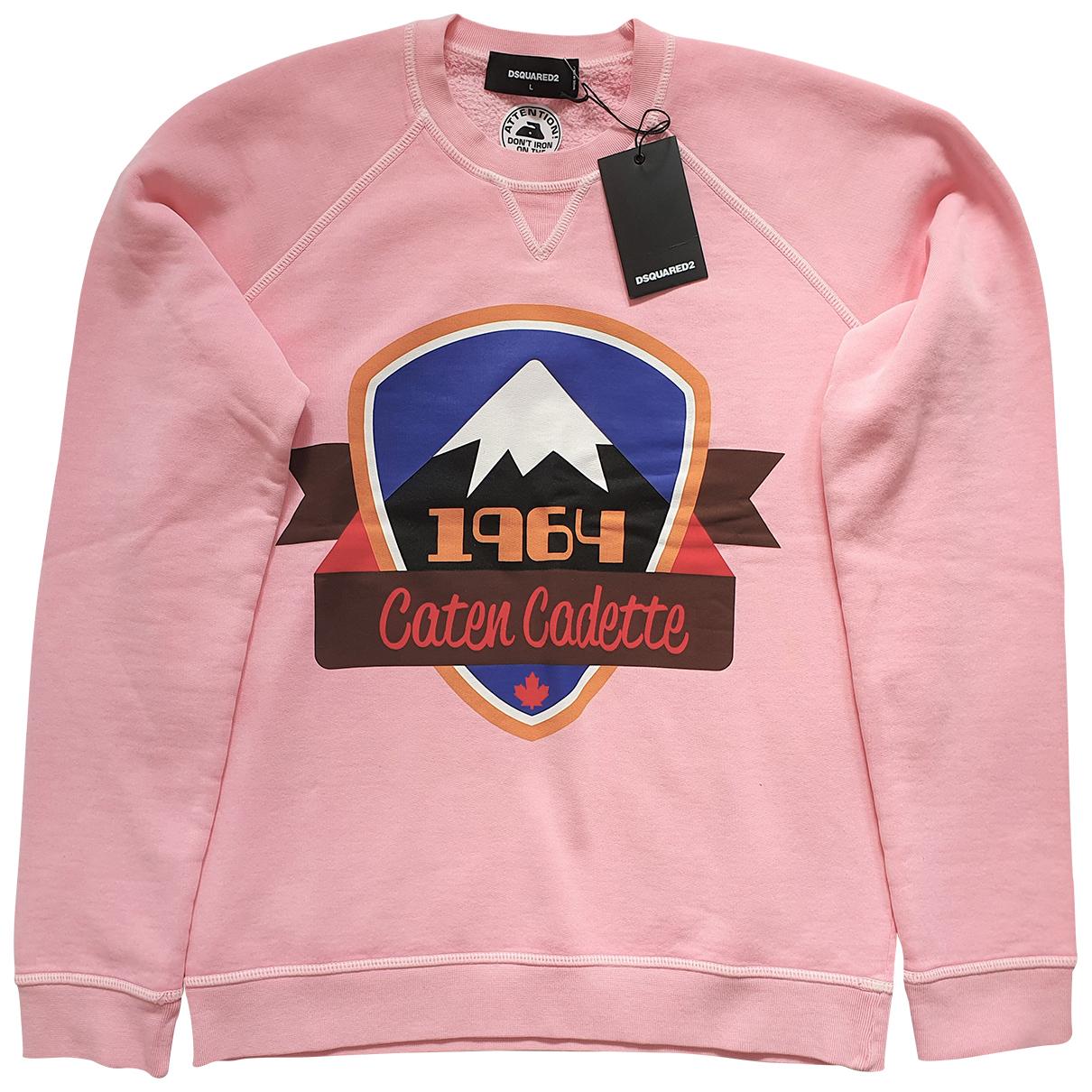 Dsquared2 \N Pink Cotton Knitwear & Sweatshirts for Men L International