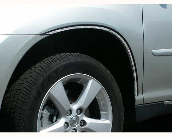 Quality Automotive Accessories 4-Piece Stainless Steel Wheel Well Fender Trim Kit Lexus RX Series 2009