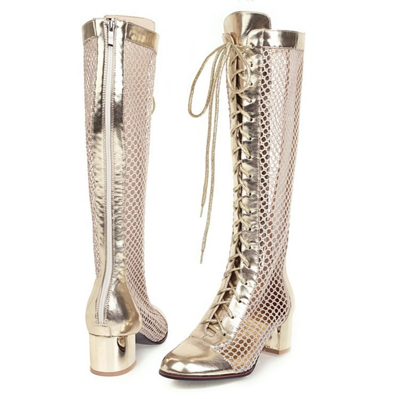 Ericdress Back Zip Round Toe Chunky Heel PU Boots