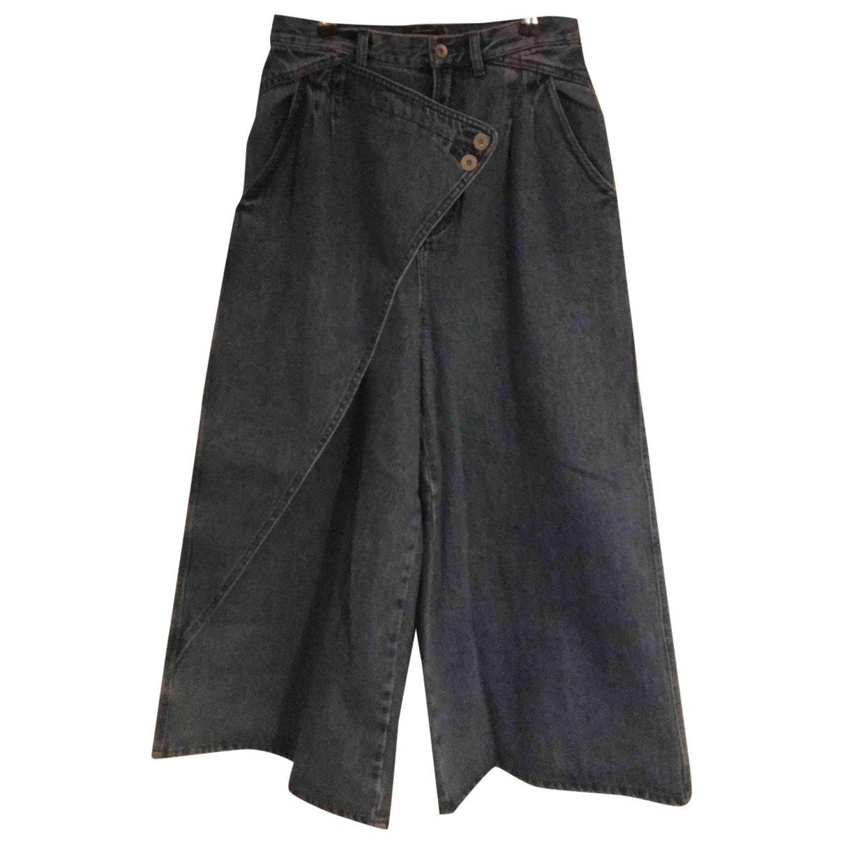Non Signé / Unsigned \N Blue Denim - Jeans Jeans for Women 30 US