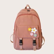 Floral Appliques Backpack