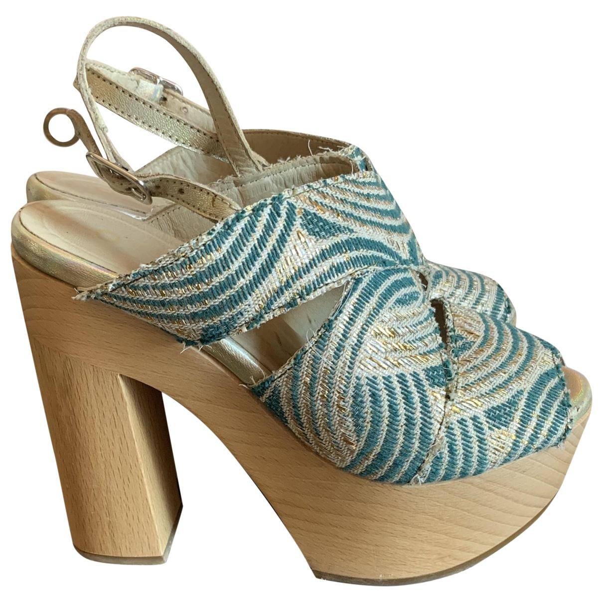 Non Signé / Unsigned \N Multicolour Cloth Mules & Clogs for Women 36 IT