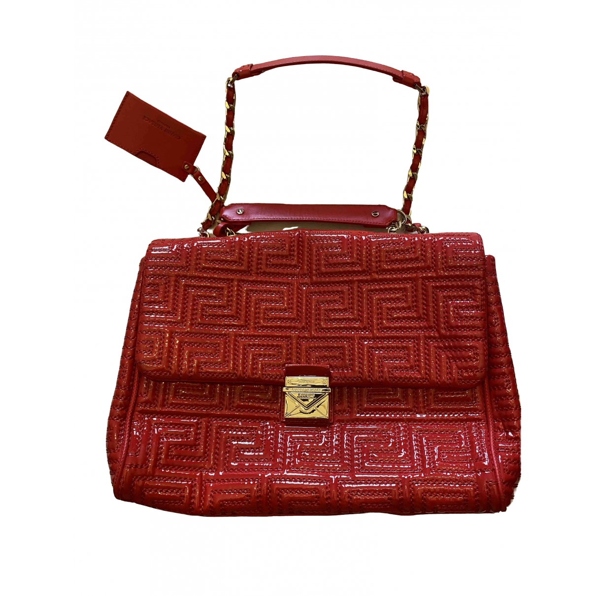 Versace \N Red Patent leather handbag for Women \N