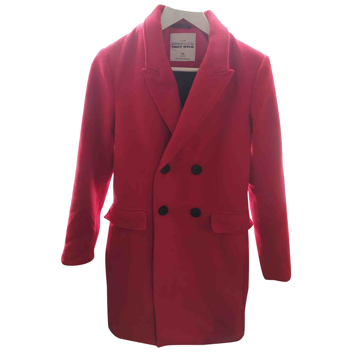 Non Signé / Unsigned \N Red Wool coat for Women 36 FR