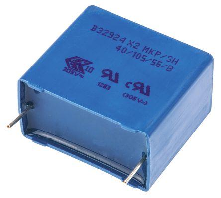 EPCOS 3.3μF Polypropylene Capacitor PP 305V ac ±20% Tolerance Through Hole B32924C Series