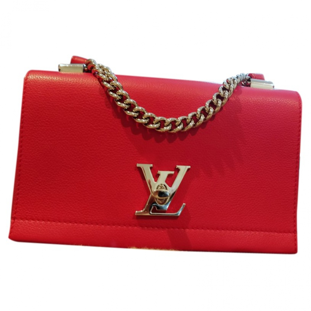 Louis Vuitton Lockme Red Leather handbag for Women \N