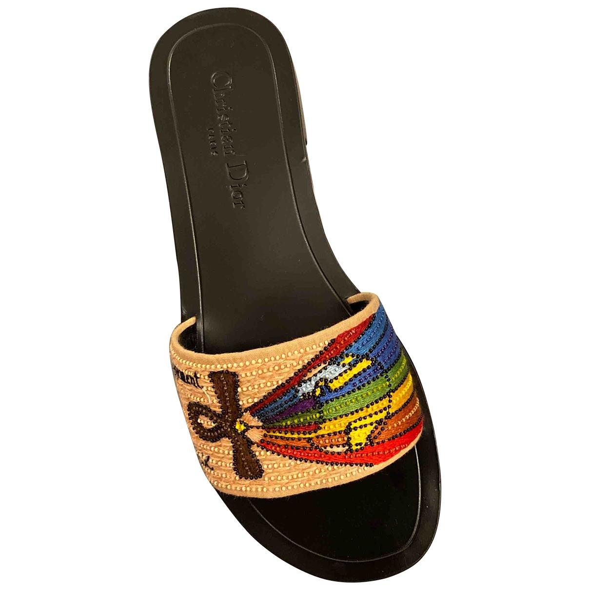 Dior \N Multicolour Leather Sandals for Women 39 EU