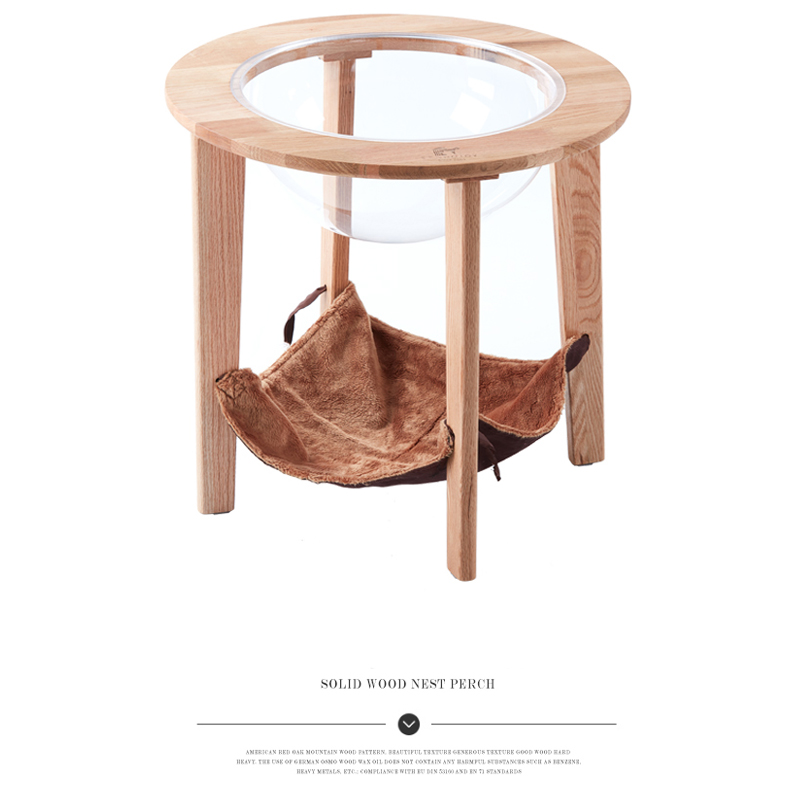 Red Oak Removable and Washable Four Seasons Solid Wood Cat Hammock Double-layer Climbing Frame