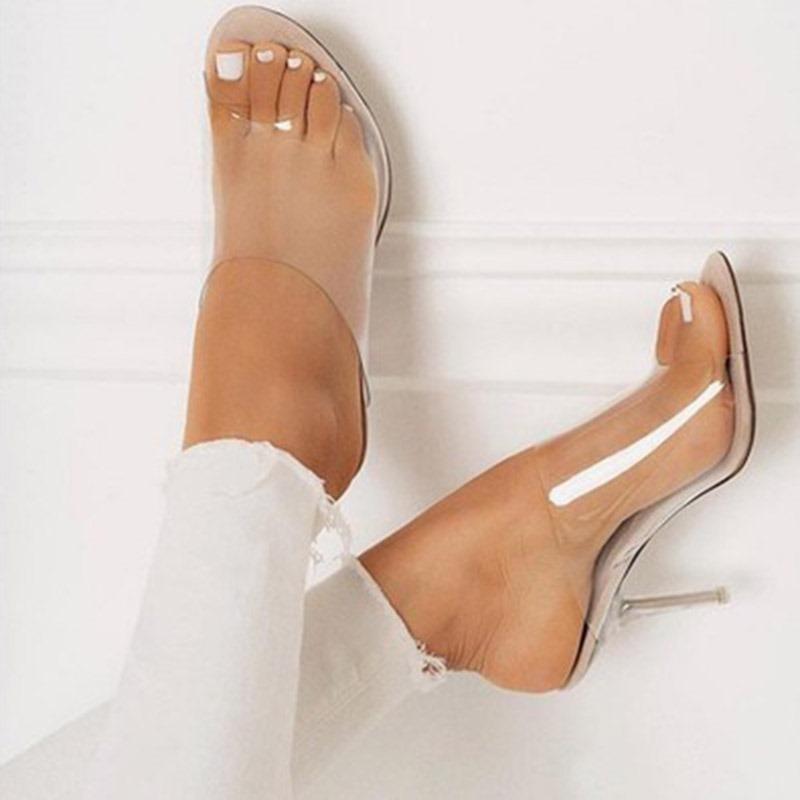 Ericdress PVC Flip Flop Stiletto Heel Women's Sandals
